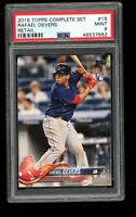 2018 Topps #18 Rafael Devers Retail Complete Set Red Sox RC Rookie Card PSA 9