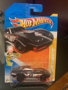 2011 Hot Wheels New Models '69 Copo Corvette #4 Black (2 Car Bands)