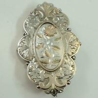 Large Antique Sweetheart Brooch Antique Silver, Yellow and Rose Gold 1885