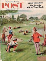 1957 Saturday Evening Post August 31-Women Golfers;Edsel;Bloomington IN;Springer