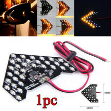 1x Yellow 33SMD Sequential LED Arrow Panel for Car Side Mirror Turn Signal Light