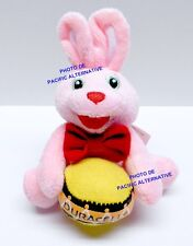 Peluche (11cm) DURACELL lapin rose plush pink rabbit kaninchen rosa new pub NEUF