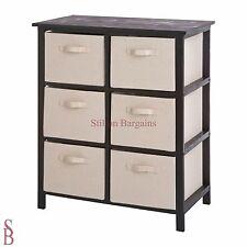 Mali 6 Drawer Hall Storage Unit - Black and Cream - BNIP - Basket