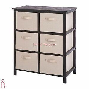 Mali 6 Drawer Hall Storage Unit - Black and Cream - BNIP - Basket * Reduced *
