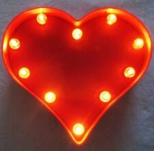 Red Heart Valentine LED Battery Operated Marquee Sign (New in Box)