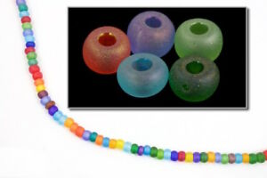 6/0 Matte Cosmic Multi-Color Seed Bead (40 Gram) #CSB238
