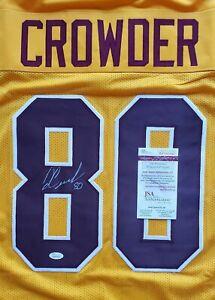 RARE Jamison Crowder Washington Redskins Signed Yellow XL Jersey JSA Witnessed