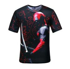 Dead Pool Artist Shirt Medium Black Red Twin Swords Casual Wear Gym Wear
