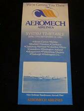 Vintage AIRLINE Flight Schedule Timetable, AEROMECH AIRLINES, c1981 (14Mar09P)