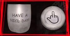 Verre whisky Bonne Journee avec Image de la terre pour Jokers - Gravure HAUT