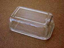 Butterdose Glasbutterdose temperiertes Glas geriffelt Luminarc aus Frankreich