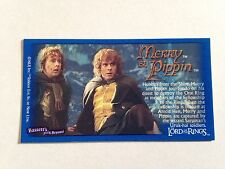 Lord Of The Rings - Bassett / Barratt Trading Cards - Merry And Pippen - Card