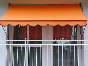 Klemm-Markise mit manuellem Kettenantrieb PE 1005 uni orange
