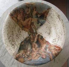 Beautiful Large Plaster Compote w/ Leonardo Da Vinci Images!!!!!