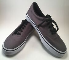 AIRWALK Mens Gray Canvas Skate Non-marking Sneakers Casual Shoes Sz 9 (J)