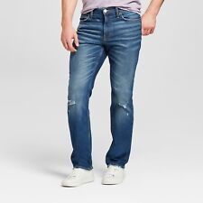 NWT Men's Slim Straight Fit Jeans with Coolmax - Goodfellow & Co Medium Vintage