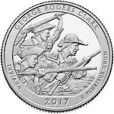 2017-P ,D,Indiana George Rodgers Clark National Park 2 Quarter Pre Sale