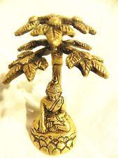 BRASS BLESSING BUDDHA BODHI TREE DECOR BUDDHISM STATUE BRASS DECOR HAND MADE