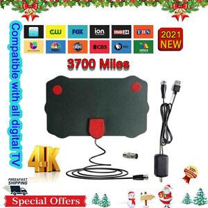 3700 Miles Clear Indoor Digital TV HDTV Antenna  2021 Latest UHF/VHF/1080p 4K