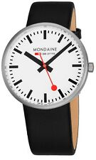 Mondaine Men's Giant Leather Strap BackLight Technology Quartz Watch MSX4211BLB