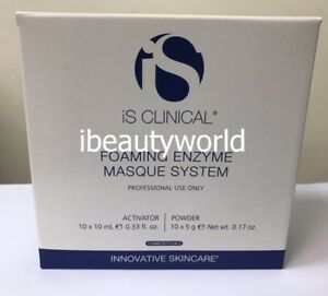 iS CLINICAL Foaming Enzyme Masque System Activator 10x10ml, Powder 10x5g #liv
