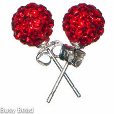10mm Crystal Shamballa Earrings Disco Ball Stud - 3 Pairs For The Price of 2