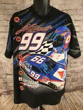 Vintage NASCAR Jeff Burton #99 Citgo Racing Men's XL T-shirt Black X-large USA