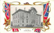 Windsor Canada City Hall Canadian Flag Border Antique Postcard J63321