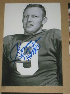 Washington Redskins SONNY JURGENSEN Signed 4x6 Photo NFL HOF AUTOGRAPH