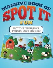 Massive Book Of Spot It fun: Spot The Difference Picture Book For Kids