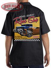 Mid-Way Race Strip Mechanics Dickies Work Shirt ~ Classic Hot Rod Racing