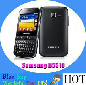 Original Samsung Galaxy Y Pro B5510 WIFI 3.15MP GPS 3G Android Keyboard phone