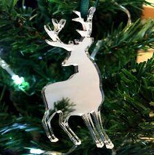 Mirrored Reindeer Christmas Tree Decoration - Pack of Ten