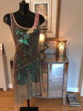 Stunning Designer JORANDO multi Sequin Dress Size 40 Uk8