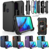 For Motorola Moto G Power 2020/G Stylus Shockproof Case+Belt Clip Fits Otterbox