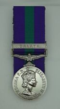 Full Size Court Mounted General Service Medal GSM with Malaya Clasp