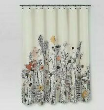 Threshold Floral Wave Shower Curtain  Multi Color New