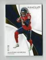 2017 Immaculate DeAndre Hopkins Parallel Card, SP #/99, Texans!