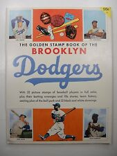 1955 BROOKLYN DODGERS GOLDEN STAMP BOOK WITH ALL 32 STAMPS INTACT KOUFAX ROOKIE