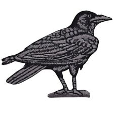 Raven Applique Patch - Bird Facing Right (Iron on)