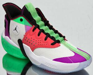 Jordan React Elevation Men's White Black Hyper Violet Basketball Shoes Sneakers
