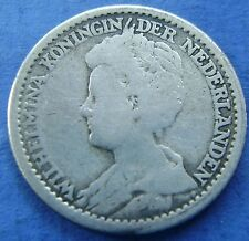 Nederland - The Netherlands kwartje, 25 cent, 1914 Wilhelmina Silver KM# 146