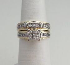 Zales 1/2CT Diamond Engagement Wedding Ring Set Bridal Set in 14K Two Tone Gold