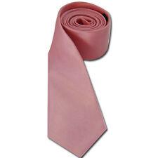 Expédié de Paris - Cravate Fine Rose Unie Homme Femme Élégante Gothique
