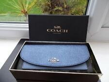 100% Authentic Coach Metallic Blue Logo Purse Wallet Long BNWT