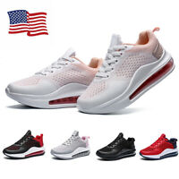 Women Men Air Cushion Sneakers Athletic Outdoor Running Shoes Trainers Lace Up