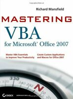 Mastering VBA for Microsoft Office 2007 by Mansfield, Richard Paperback Book The