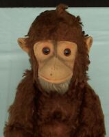 Vintage Hermann Jocko Monkey Chimp. Mohair Character Toy with Squeaker Germany