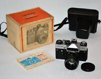 "NEAR EXC! 1985 RUSSIAN USSR ""ZENIT-ET"" camera + HELIOS 44-2 lens, FULL SET (2)"