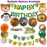 Jungle Party Decorations, Animal Balloons, Safari Cake Toppers, Birthday Banner